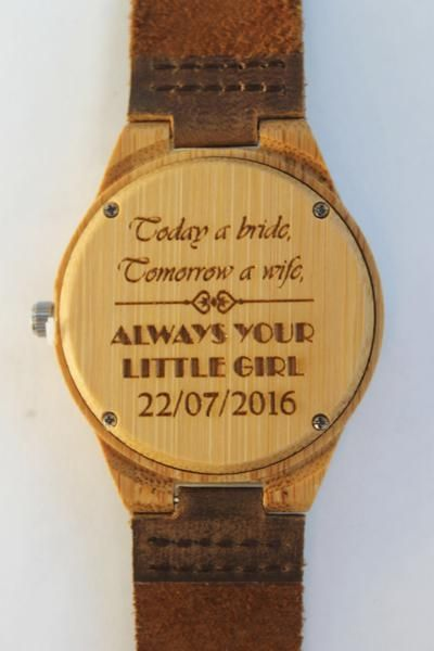 Looking for a memorable gift for any occasion? Check out these contemporary wooden accessories!   ====> https://chiseltree.co.uk/collections/wedding-engagement/products/father-mother-of-the-bride-personalised-watch  All our wooden watches are completely natural and significantly lighter than the average watch, great for people with metal allergies. The minimalist design is sleek, stylish and beautifully unique. #woodenwatch