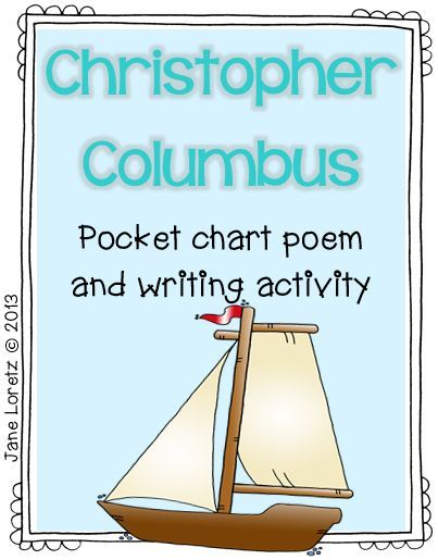 Christopher Columbus poem and writing activity! FREE!