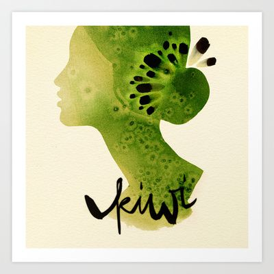 Kiwi Art Print by Ekaterina Koroleva - $18.00