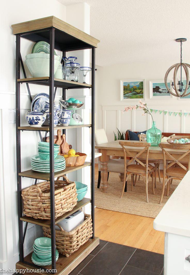 Coastal Cottage Style Spring Kitchen Tour - The Happy Housie