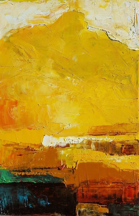 Buy Gold clouds, Oil painting by Simon Tünde on Artfinder. Abstract Landscape