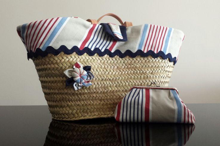 paixões são as cestas de verga decoradas com tecidos Estas cestas