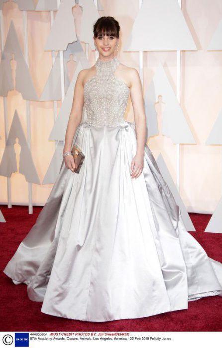 Felicity Jones w sukni Alexander McQueen, Oscary 2015