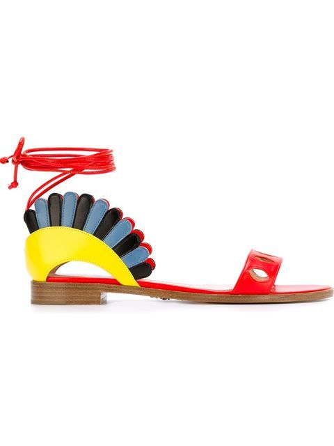 Shop Paula Cademartori 'Lotus' sandals  in Banner from the world's best independent boutiques at farfetch.com. Shop 400 boutiques at one address.