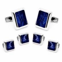 Classici - gemelli da polso perlati blu