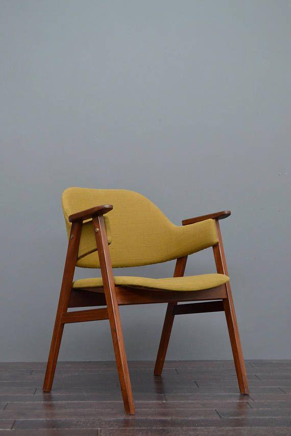 Original 1960 S Vintage Retro Mid Century Olive Green Etsy Danish Design Chair Chair Retro Mid Century
