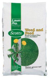 Scotts LawnPro Weed and Feed Weed Control Plus Lawn Fertilizer - 15 lb. 51105 by Scotts. $14.71. Use for a lush, beautiful lawn. Provides late spring feeding. Fast acting. Provides 5,000 sq. ft. of coverage. Controls most broadleaf weeds. From the Manufacturer                Controls most common broadleaf weeds and provides late spring feeding.                                    Product Description                Scotts, Lawn Pro, 5,000 SQFT Coverage, 26-0-3, Weed & Feed, Apply ...