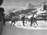 Usa Team Playing the Swiss at the Winter Olympics