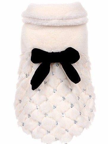 HOOPET pet roupas de Luxo elegante casaco de peles De Inverno samll dog cat clothes bowknot Chihuahua em Casacos e Jaquetas para Cachorros de Home & Garden no AliExpress.com | Alibaba Group