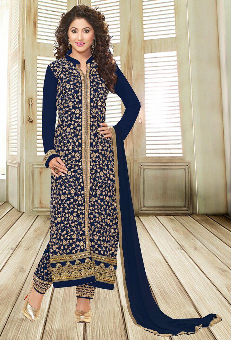 #Blue #Georgette #Shalwar #Kameez #nikvik  #usa #designer #australia #canada #freeshipping #ceremonial #pakistani