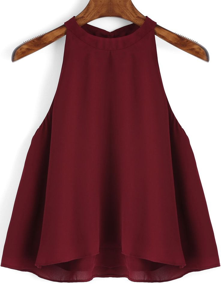 Burgundy Loose Cami Top -SheIn