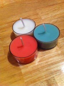 Christmas tealights, 6 pack £2.50 Cranberry marmalade, mistletoe and amaretto nog http://www.ebay.com/itm/261313203355?ssPageName=STRK:MESELX:IT&_trksid=p3984.m1555.l2649