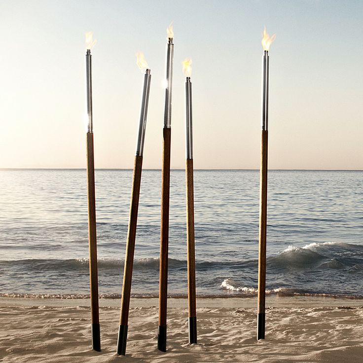 Garden Torches for near the netting (and inflatable mattress)..makes for a romantic outdoor night under the stars