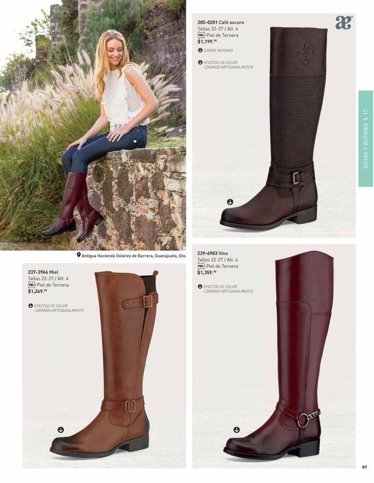 Botas de moda para mujer de la marca Andrea, catalogo de verano. #ZapatosAndrea #catalogoAndrea