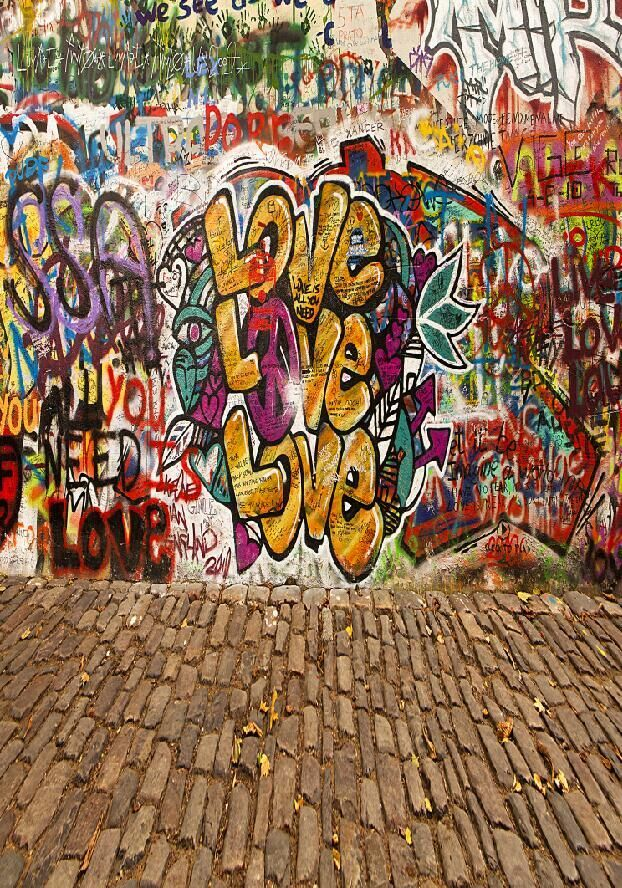 Street graffiti photography backdrops background for rock style party D-5227