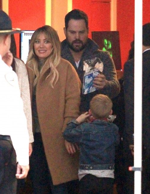 Hilary Duff and Mike Comrie take their son Luca to see Santa Clause on December 15, 2016