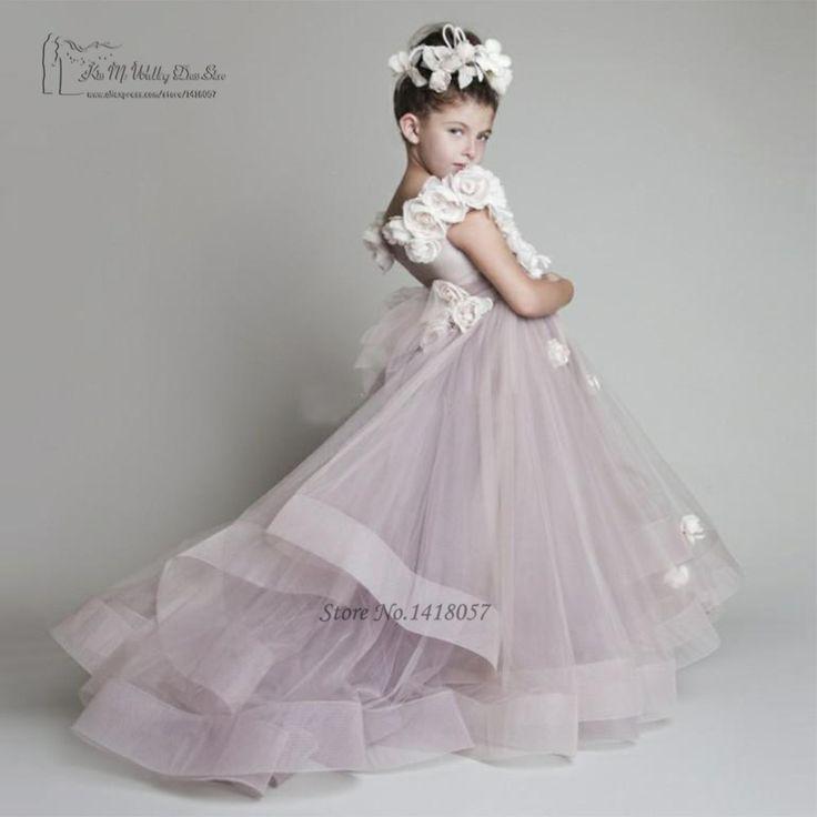Aliexpress.com: Comprar La princesa vestidos para bodas cumpleaños Vestido 2016 Glitz vestidos del desfile de primera comunión para las niñas Vestido daminha de vestidos vestido de granero fiable proveedores en Kiss Me Wedding Dress Store