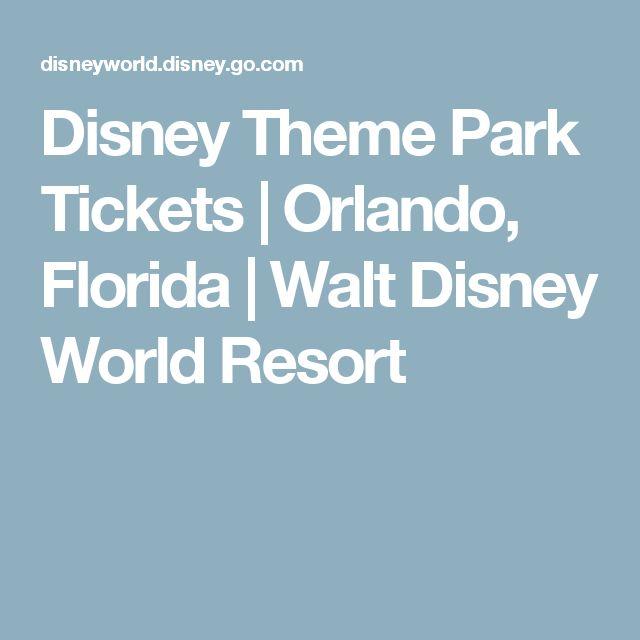 Disney Theme Park Tickets | Orlando, Florida | Walt Disney World Resort