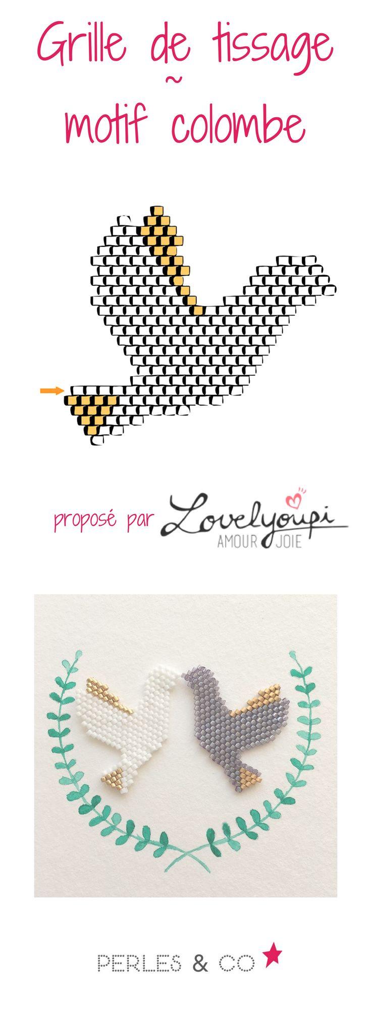 """Une tuto totalement """"peace"""" ça vous tente? Grâce à Cécile du blog Lovelyoupi, nous vous proposons un tissage de perles Miyuki pour réaliser une jolie colombe.    Ici, Cécile nous propose de monter ce tissage en brick stitch. Pour les débutantes, vous pouvez vous rendre sur nos fiches techniques pour apprendre les bases du tissage de perles."""