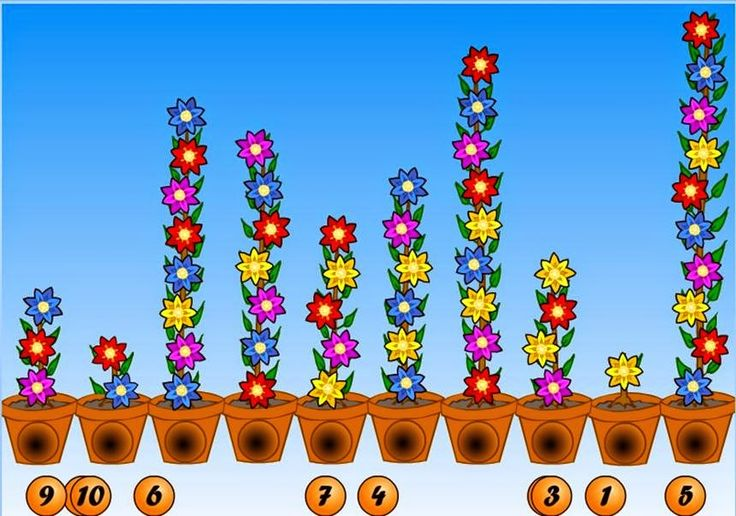 Repasa los números contando flores