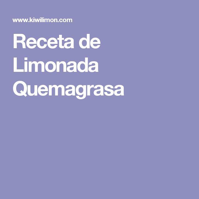 Receta de Limonada Quemagrasa