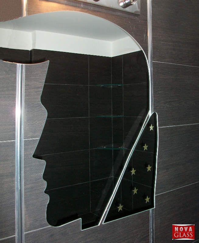 Καθρέπτης τοίχου 80Χ90 Elvis ροντέ με χρυσά αστέράκια