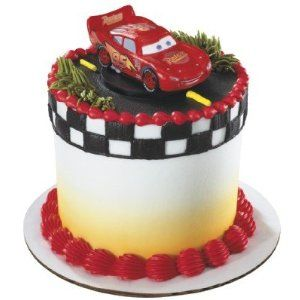 A little cake like this would be great for Adrian to eat all by himself, the car on top would have to be a toy so he can  play with it later.