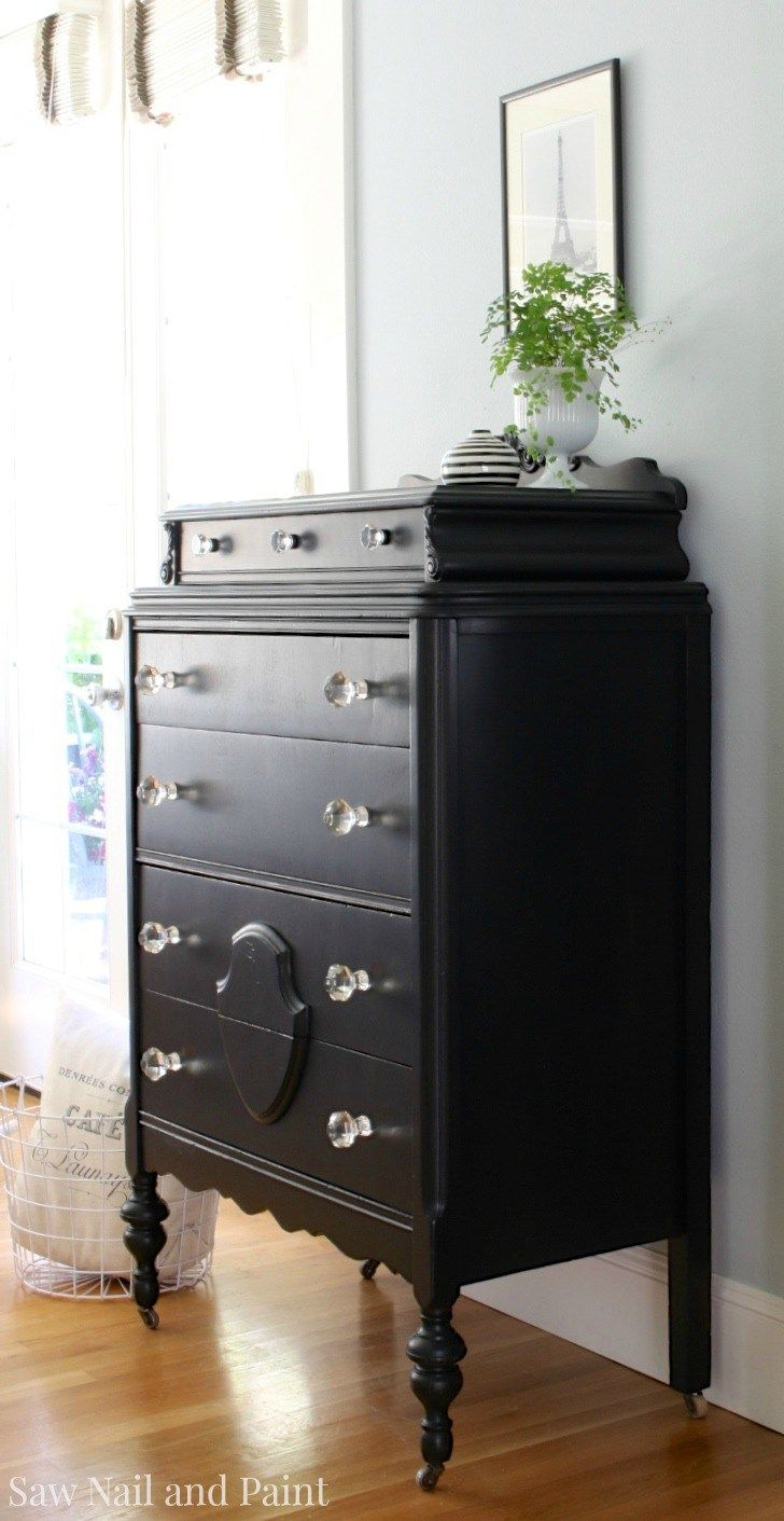 17 best ideas about black painted dressers on pinterest - Black chalk paint dresser ...