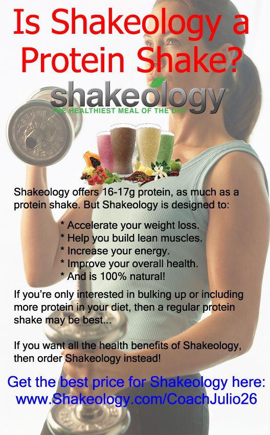 What is Shakeology? Is Shakeology a protein shake? Shakeology offers offers as much protein as protein shake but includes several other health benefits that a protein shake does not offer. Learn more here: http://www.tipstoloseweightblog.com/shakeology/shakeology-protein