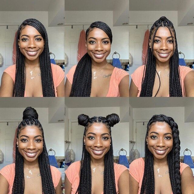 Kinkyhairrocks Com On Instagram Some Super Cute Ways To Style Your Braids In 2020 Cool Braid Hairstyles Box Braids Hairstyles For Black Women Box Braids Hairstyles