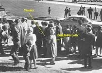 The mystery of the Babushka Lady - Interestingly, a Dallas film developer later told FBI agents that he had developed a single color slide brought in by an unknown woman. The slide was somewhat blurry, but from the developer's description, it matched up as being taken from the spot the Babushka Lady was standing — or very close to it.