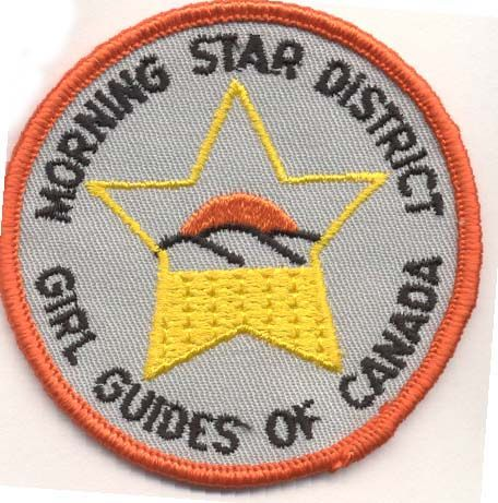 Morning Star District, Alberta, Girl Guides of Canada patch/crest. #GGC #Girl_Guides #patches