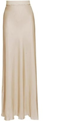 ShopStyle: LANVIN Silk maxi-skirt