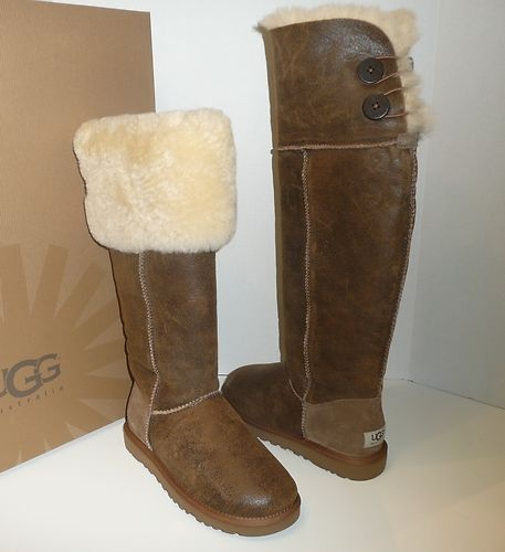 7be54080e69 Ugg Bailey Button Over The Knee boots chestnut bomber jacket~Im in ...