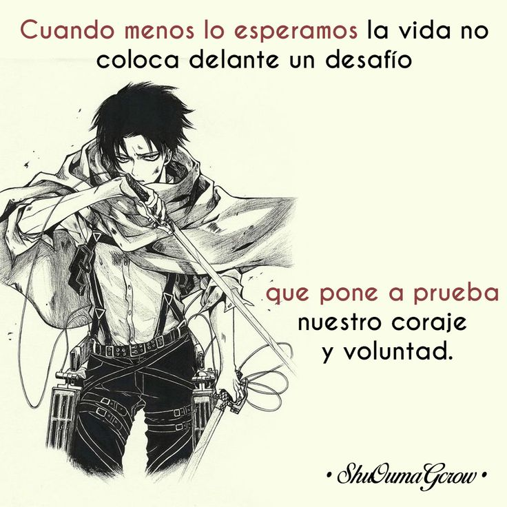Cuando menos lo esperamos #ShuOumaGcrow #Anime #Frases_anime #frases