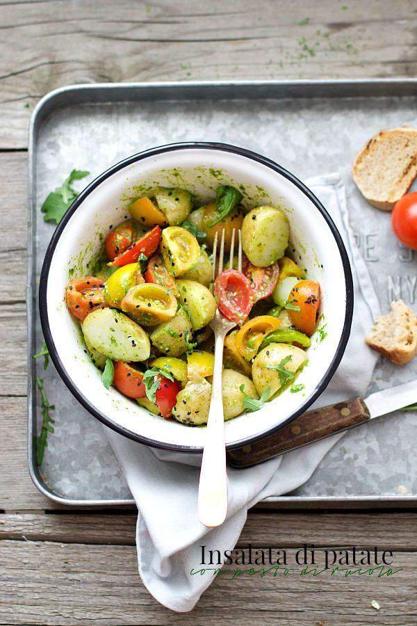 Insalata di patate con pesto di rucola e fagiolini- Potato salad