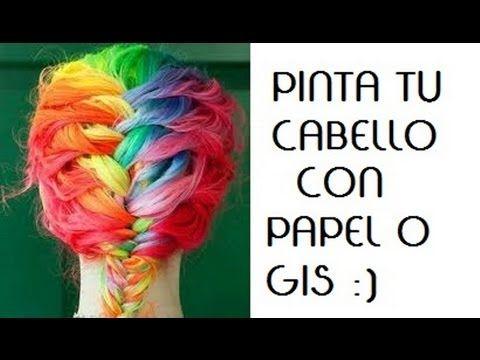 PINTA TU CABELLO DE COLORES - 2 TECNICAS (PAPEL Y GIS) - YouTube