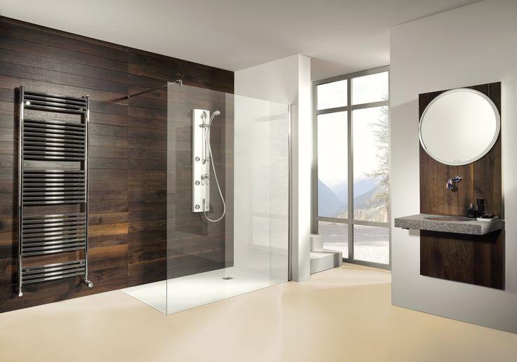 Paroi de douche fixe Cedam. Facile d'entretien et anticalcaire, nos parois de douche apportent style et luminosité à la salle de bain. #douche #paroi