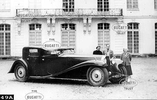 Type 41, #41100, Reg. 3293-J4, Royale Coupé Napoléon (Sedanca de Ville) At Ermenonville c1961.