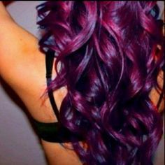 how to red-purple hair color - Google Search