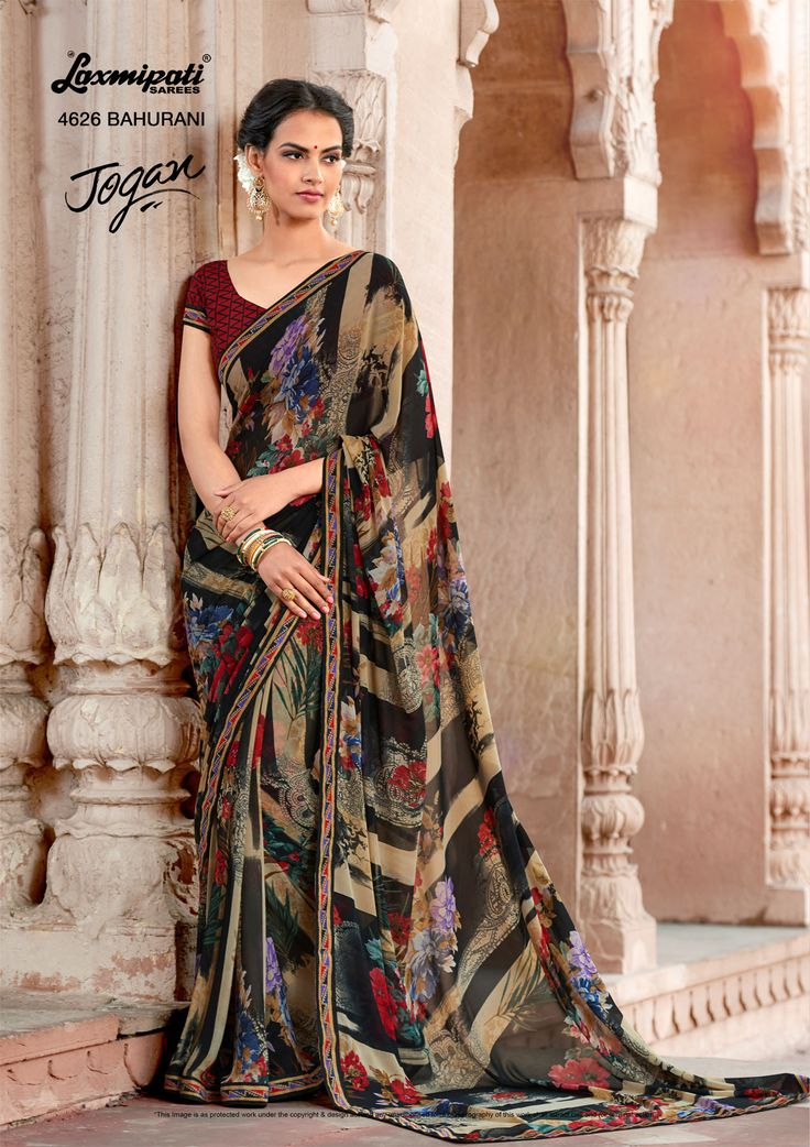 Browse this Amusing Multi Colored #GeorgettePrinted_Saree along with #Unstitched_Blouse, Bhagalpuri Lace Border online from www.laxmipati.com. We deliver all over the #World like USA, UK, Canada, Australia, Dubai, Malaysia, Mauritius, Pakistan, Bangladesh, Nepal, South Asia ... Ready to Ship Fashionable #Georgette_Saree for Women.