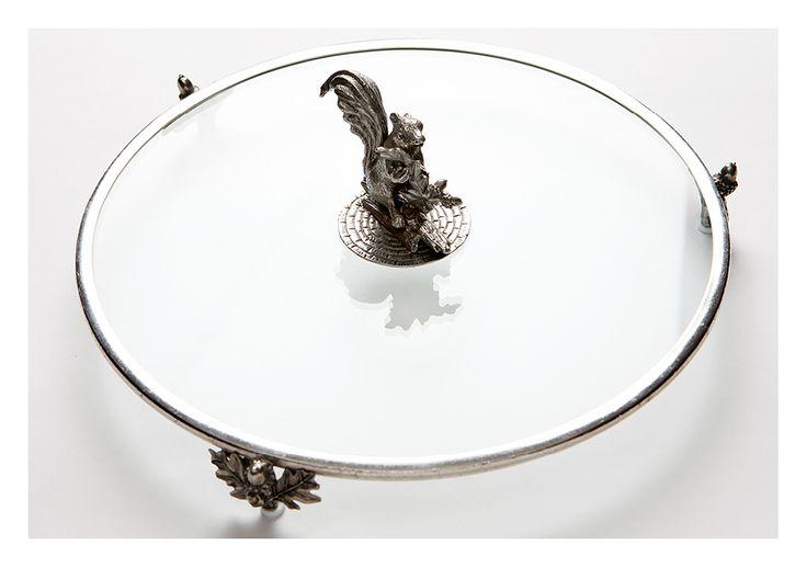 Коллекция посуды из олова фабрики SAINT LAMBERT. Стеклянный поднос «Бельчонок». #table #settings #ideas #decoration #tableware #design #luxury #accessories #dinnerware #set #party #dining #room #glass #home #decor #romantic #pretty #bohemian #inspiration #decorating #wedding #gift #tin #classic #посуда #стекло #металл #декор #столовая #сервировка #праздничная #красивая #классическая #роскошная #люкс #приборы