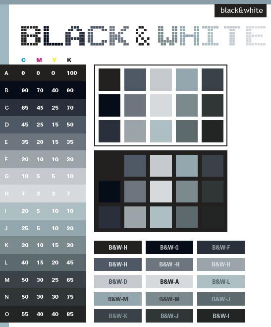Color Schemes   Black & White color schemes, color combinations, color palettes for ...