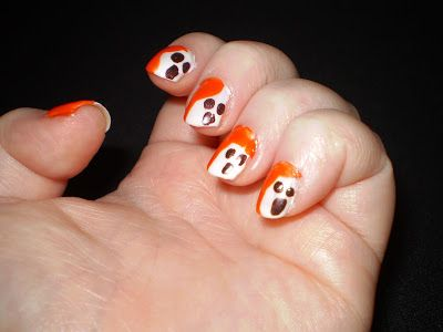 Leah's beauty : HPB PRESENTS: HALLOWEEN - FRIENDLY GHOST NAILS
