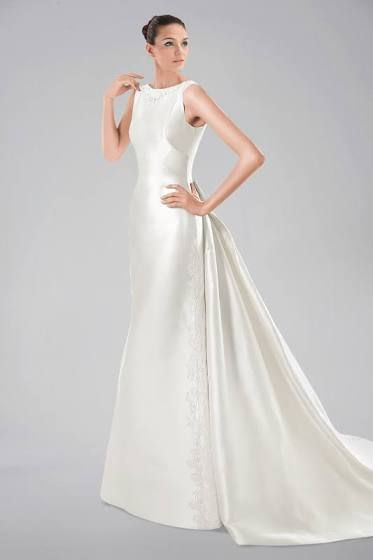 56 best Boat neck wedding gowns images on Pinterest Wedding