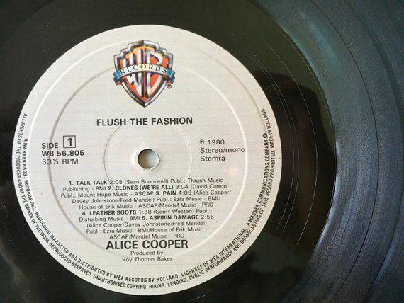 Alice Cooper Flush The Fashion Lp Vinyl Record Album Warner Etsy