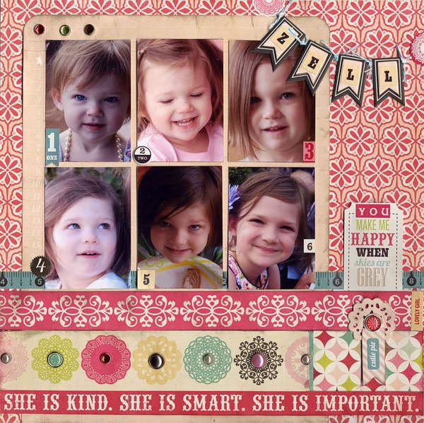 Great page for multiple photos: Baby Quotes For Scapbook, Scrapbook Com, Cards Scrapbook, Scrapbook Quotes, Baby Layout, Scrapbook Layout, Gump Quotes, Paper Scrapbook, Kids Layout