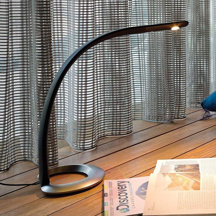 Inspirational Elegante moderne Schreibtischlampe mit biegsamem K rper aus Silikongummi und moderner LED Lichttechnik