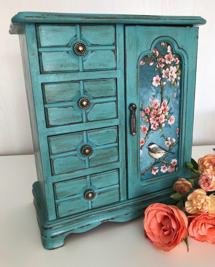 Vintage Provence Und Shabby Chic Im: Beautiful Provence Painted Vintage Jewellery Box