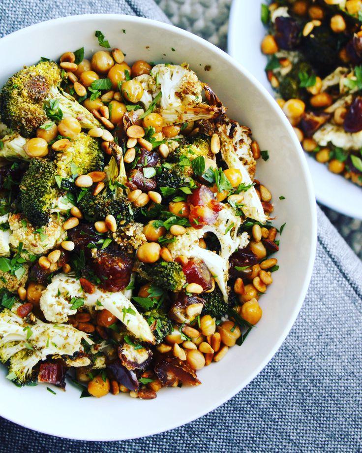 Za'atar Roasted Cauliflower and Broccoli Salad